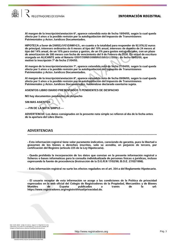 Nota simple Registro Propiedad - 2